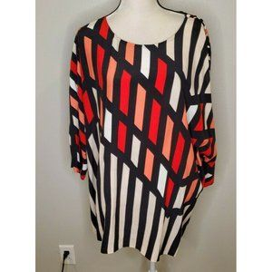 Selection by Ulla Popken Size 20 Tunic Top Striped